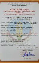 Chứng nhận Cơ sở đủ điều kiện ATTP